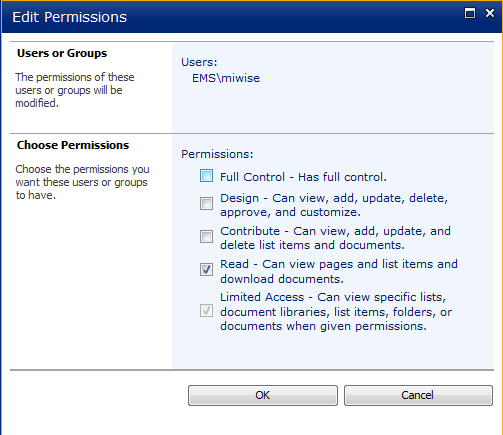 SharePoint 2010 Blog: Limited Access
