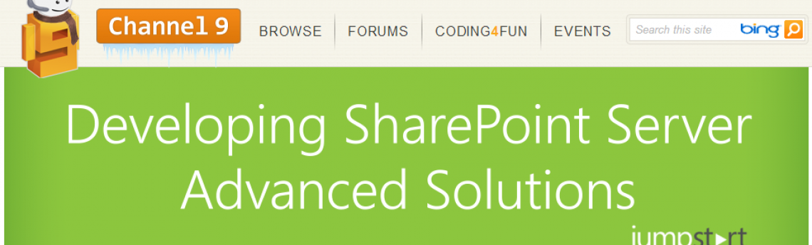 Advanced SharePoint Solutions Video Recordings Available