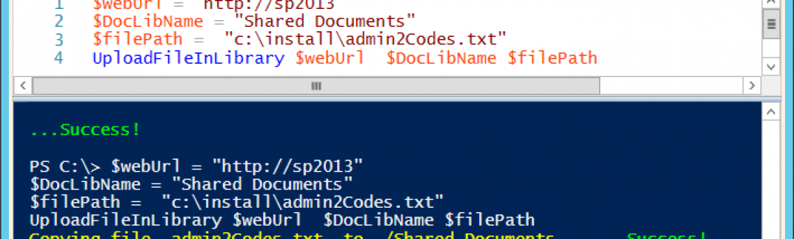 Upload a file to SharePoint by PowerShell