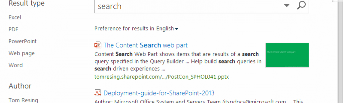 SharePoint Core Results Web Part Changes
