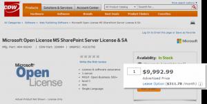 SharePoint Standard License