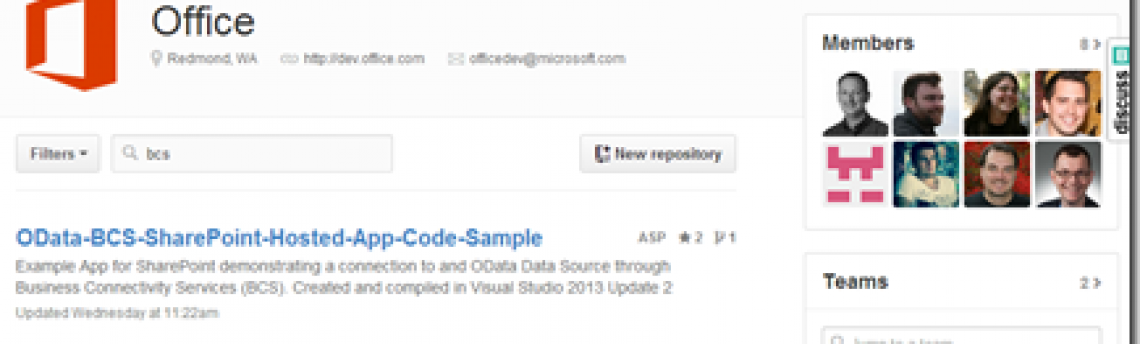 OData BCS Code Sample from TechEd 2014