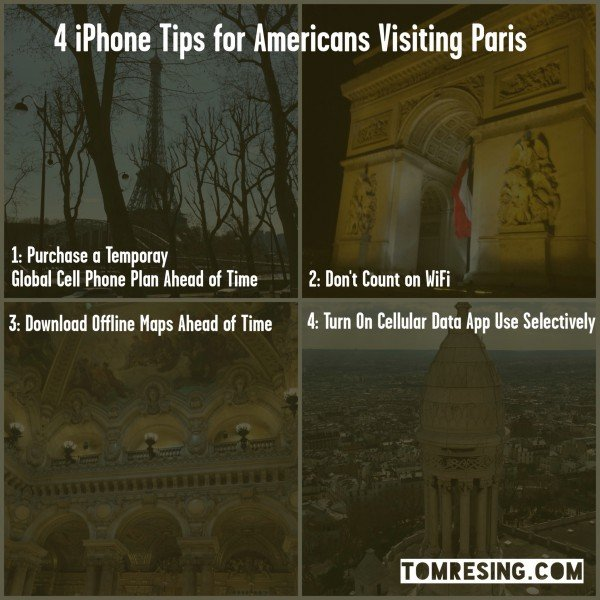 4 iPhone Tips for Americans Visiting Paris