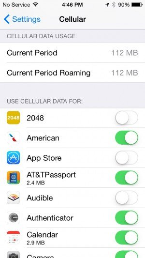 use cellular data for