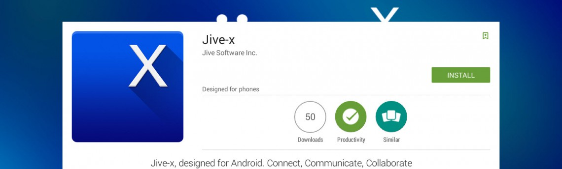 Try the Jive-x Community Manager App on BlueStacks