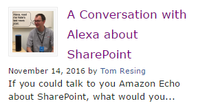 A conversation with Alexa about SharePoint