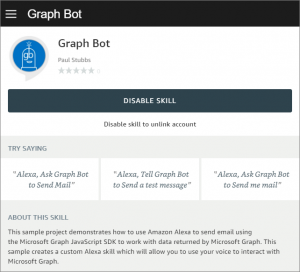 "Alexa, ask Graph Bot to Send Email"" – Tom Resing's"