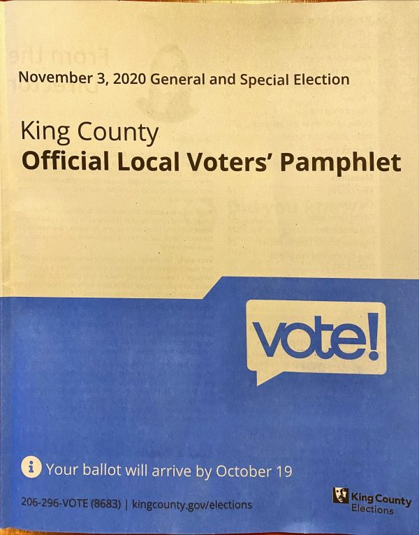 King county voters' pamphlet cover